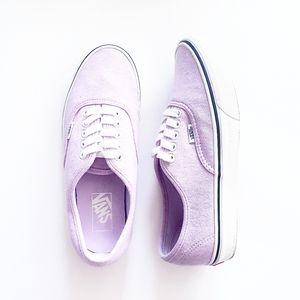 VANS Lilac Jersey Knit Classic Lace-Up Sneakers